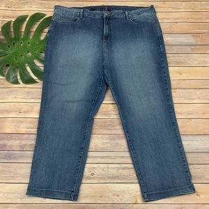 NYDJ Not Your Daughters straight leg ankle jeans